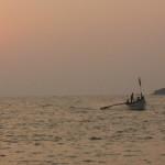 Fishing-boat-at-sunset-Palolem-Beach