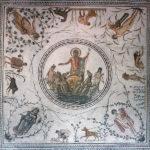 Neptune -Roman Mosiac from La Chebba,Tunisia
