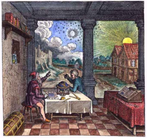 Robert Fludd - consulting the heavens