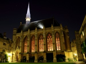 Exeter College Chapel by Night